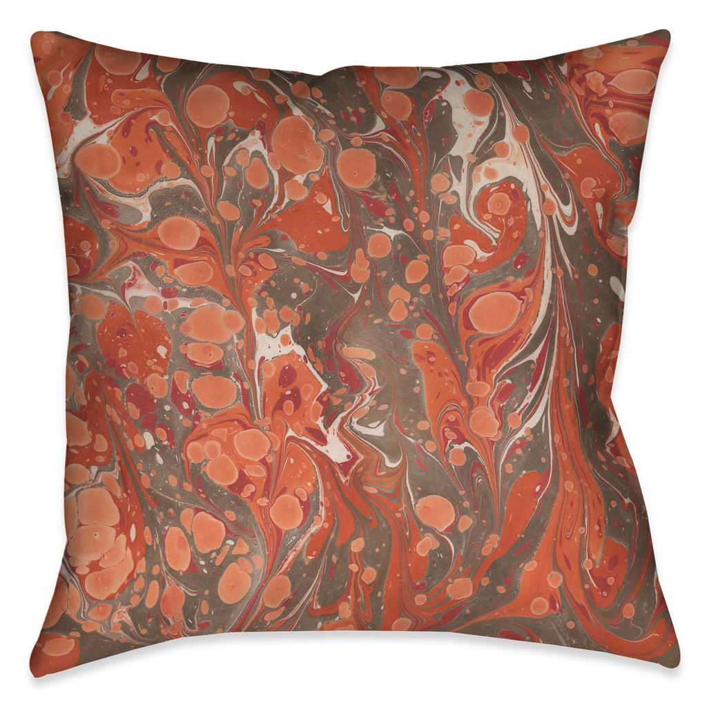 Persimmon Marble Outdoor Decorative Pillow
