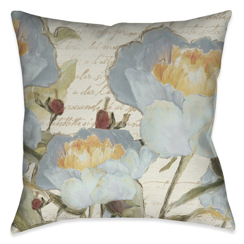 Flowers in the Garden Outdoor Decorative Pillow