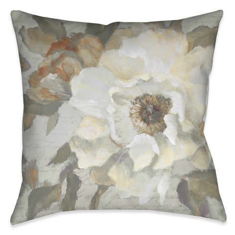 Neutral Peony I Indoor Decorative Pillow