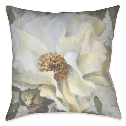 Neutral Peony II Indoor Decorative Pillow