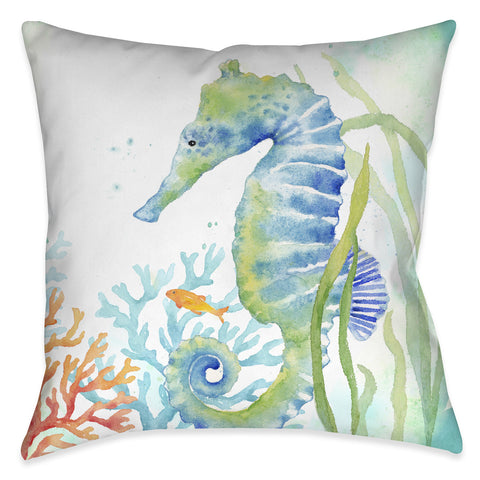 Sea Life Seahorse Indoor Decorative Pillow