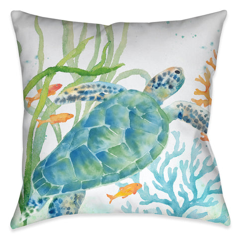 Sea Life Turtle Indoor Decorative Pillow