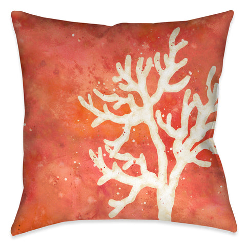 Coral Splash Outdoor Decorative Pillow