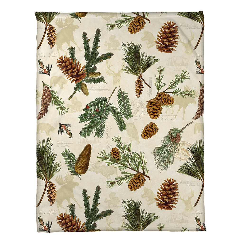 Pinecone Fleece Throw