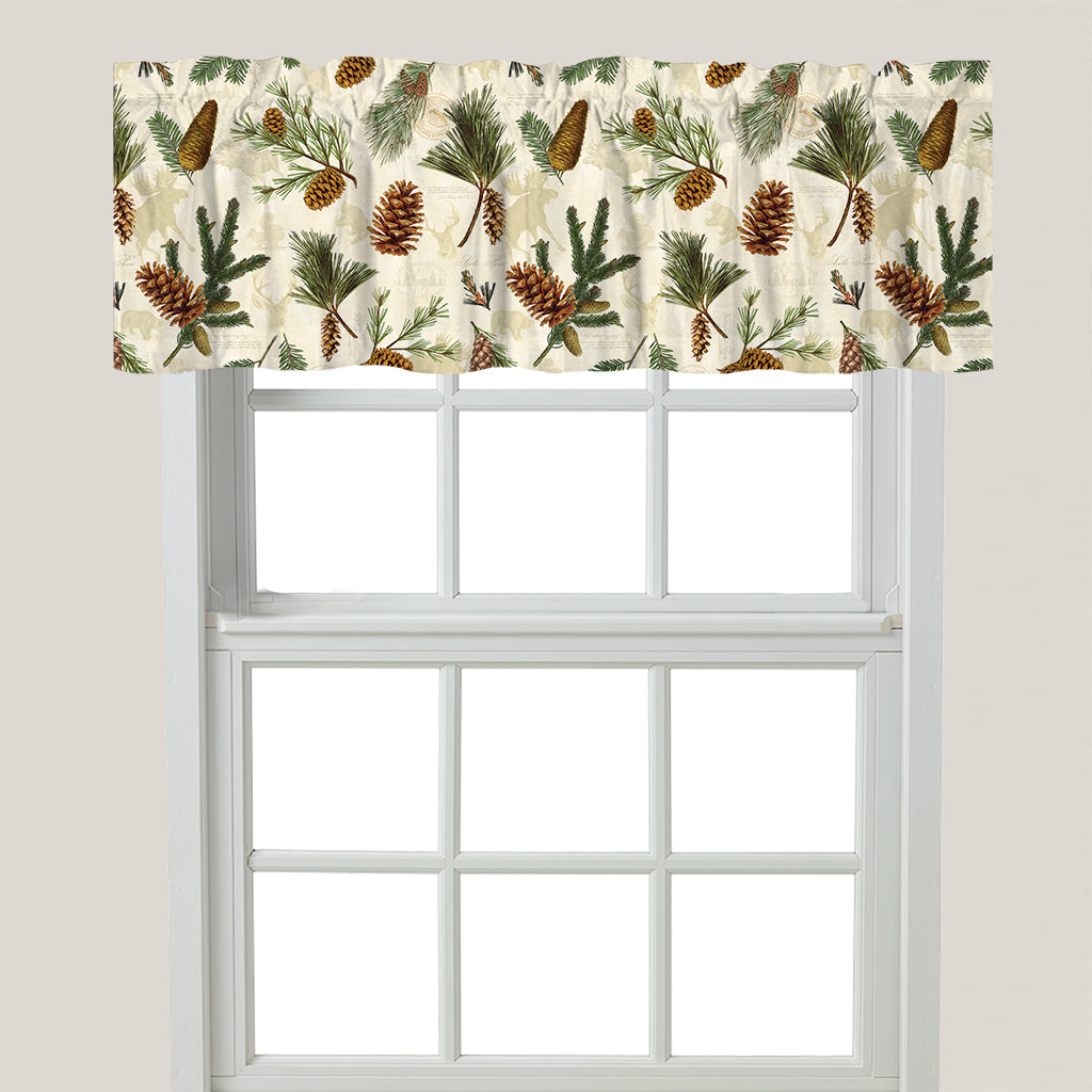 Pinecone Window Valance