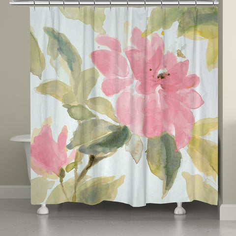 Pink Blooms Shower Curtain