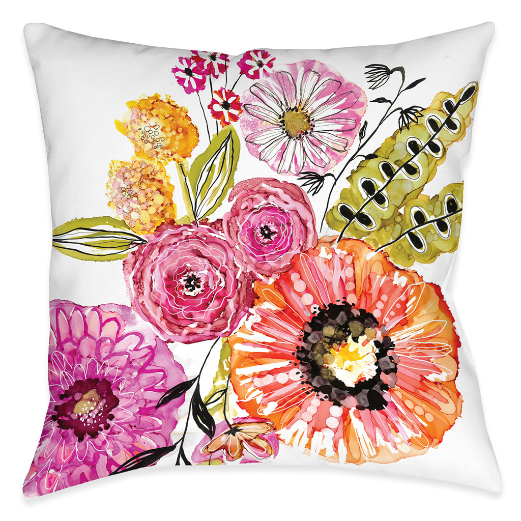 Springtime Florals Indoor Decorative Pillow