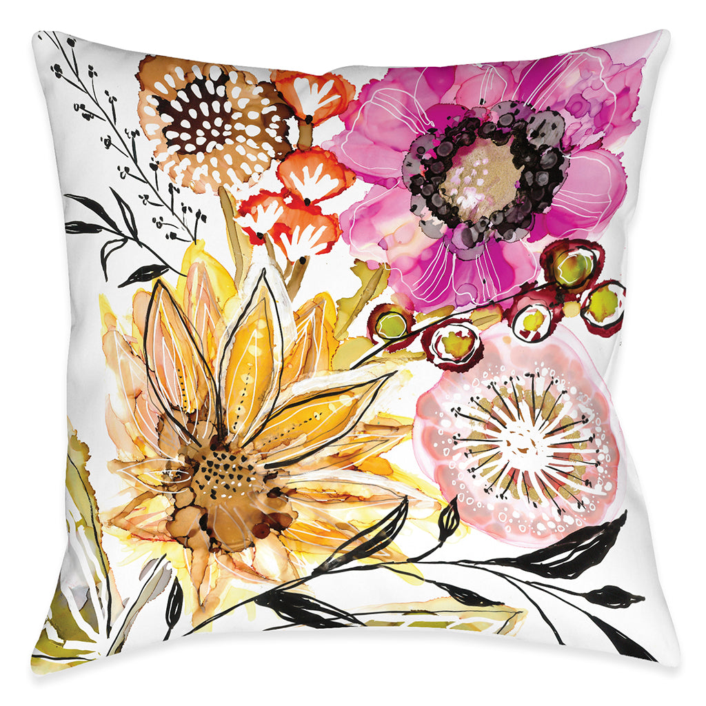 Sunray Bouquet Outdoor Decorative Pillow