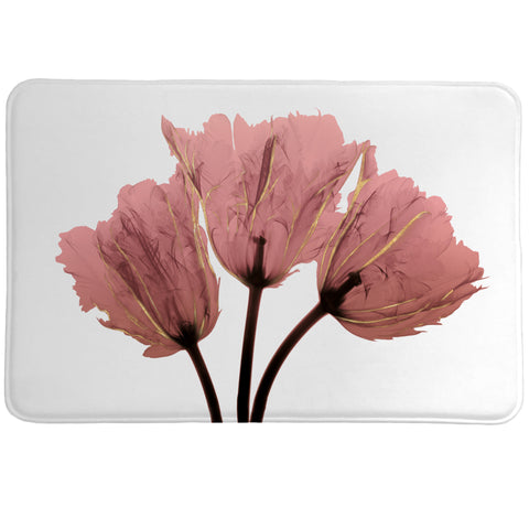 Blush Pink Tulips X-Ray Memory Foam Rug