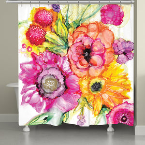 Summer Florals Shower Curtain