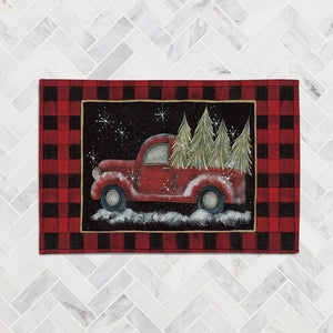 Plaid Holiday Pickup Accent Rug