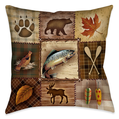 Plaid Lodge Indoor Decorative Pillow