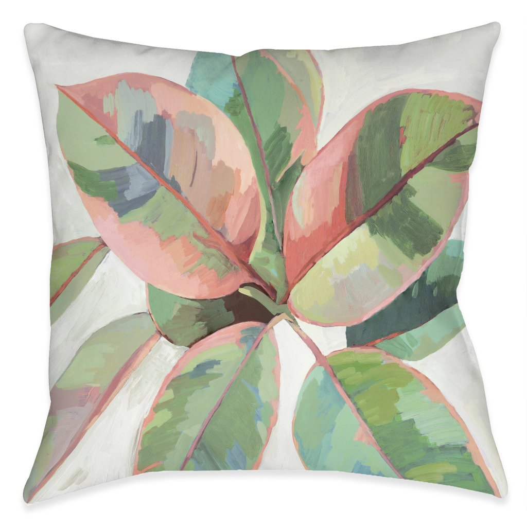 Plant Life Ficus Outdoor Decorative Pillow