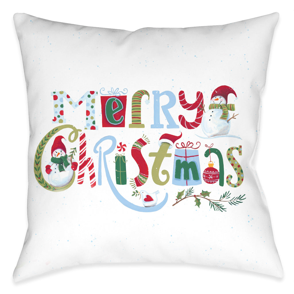 Playful Christmas Indoor Decorative Pillow
