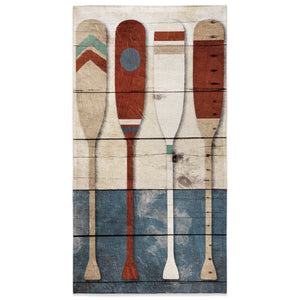 Playful Oars Beach Towel