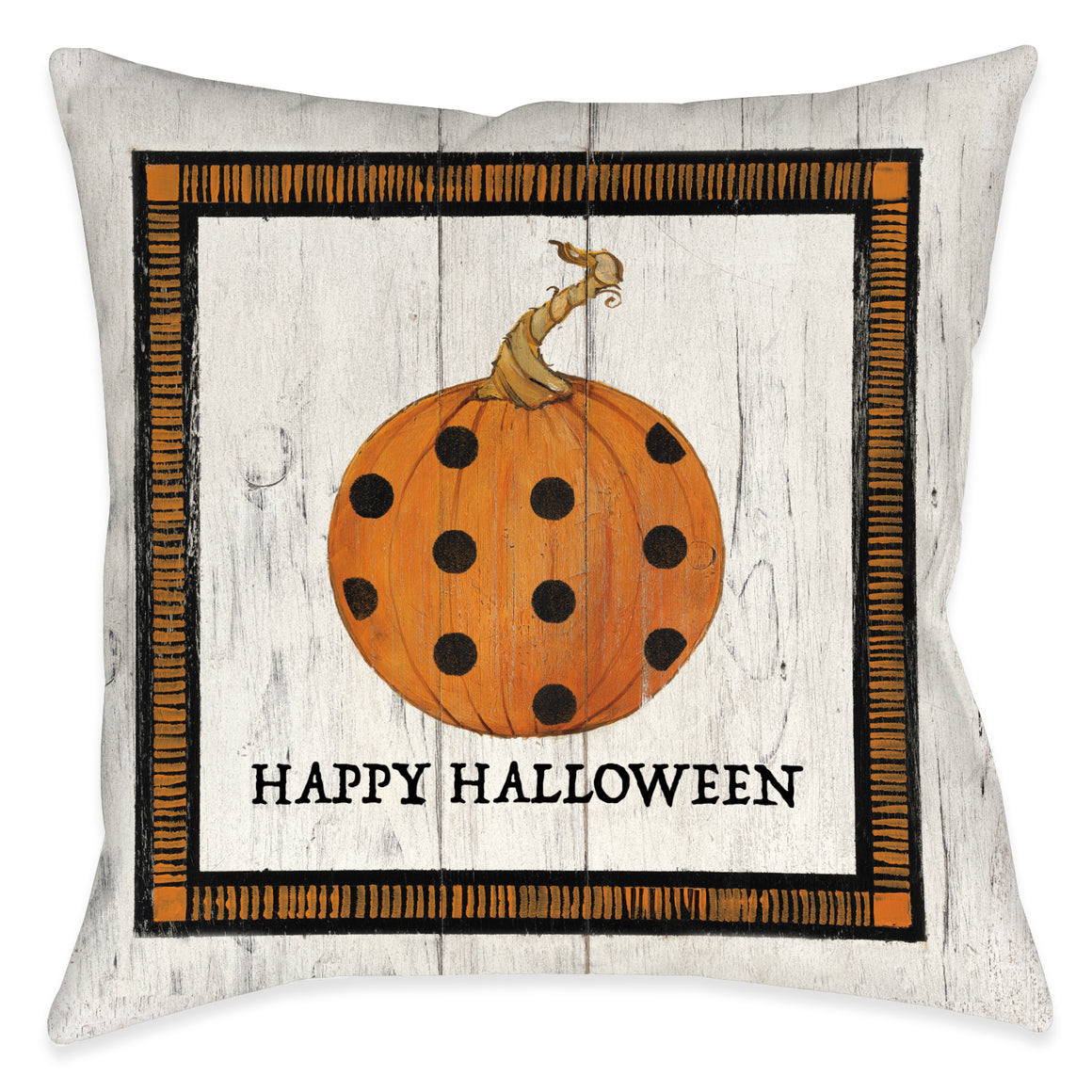Polka Dot Pumpkin Light Indoor Decorative Pillow