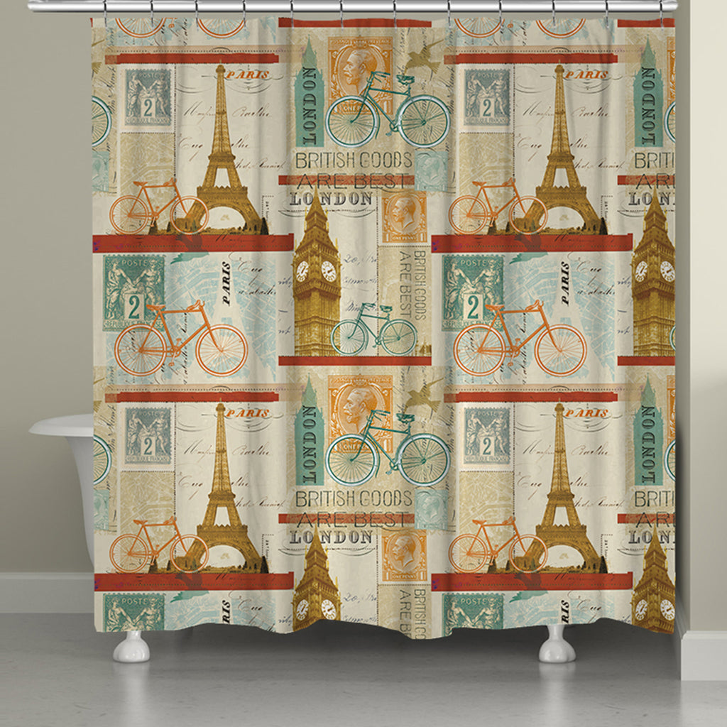 Postcard From Europe Shower Curtain Laural Home