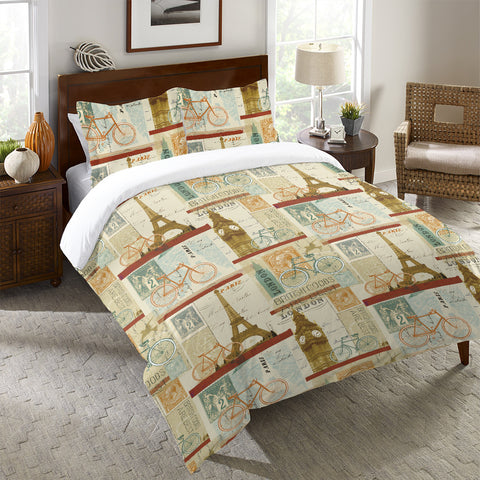 Postcard From Europe Duvet Cover