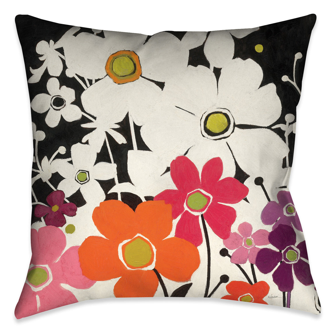 Flower Power Pillow I