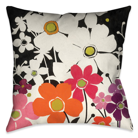 Flower Power I Indoor Decorative Pillow