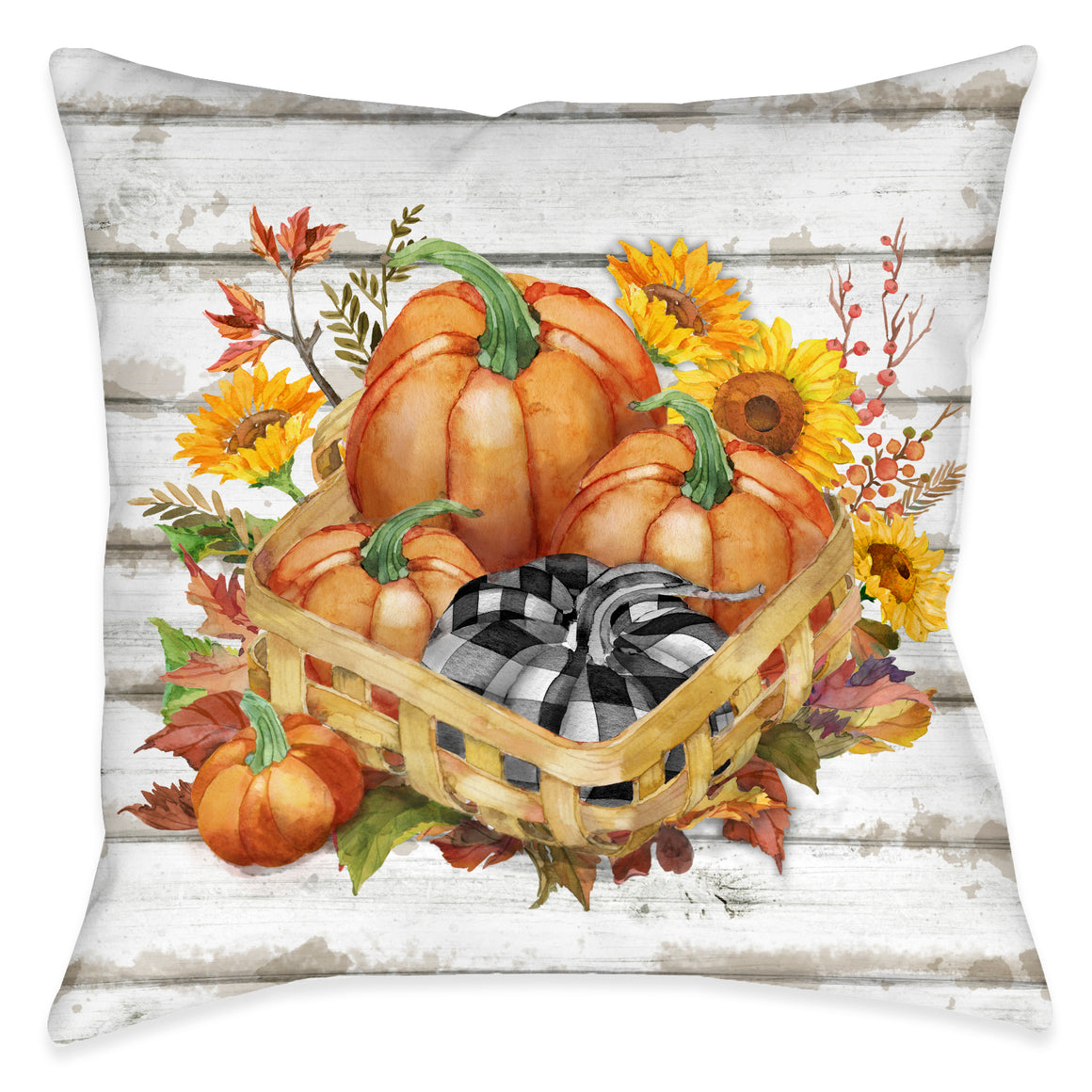 Pumpkin Gathering Indoor Decorative Pillow