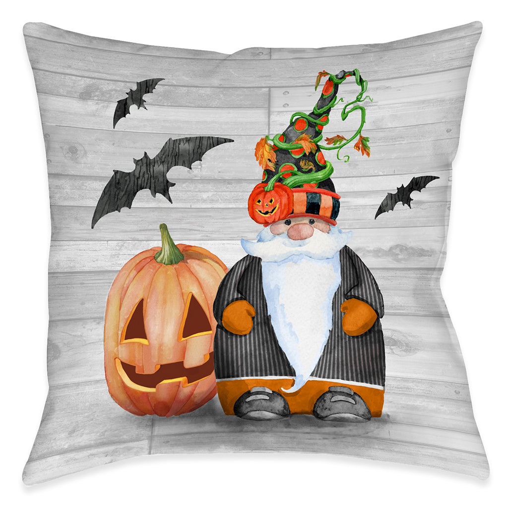 Pumpkin Patch Gnome Indoor Decorative Pillow