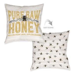 Pure Raw Honey Outdoor Decorative Pillow