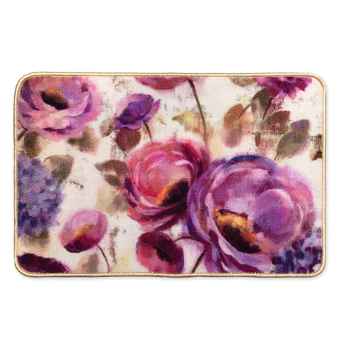 Purple Floral Garden Accent Rug