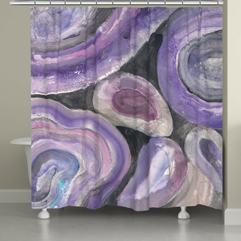 Purple Geode Shower Curtain