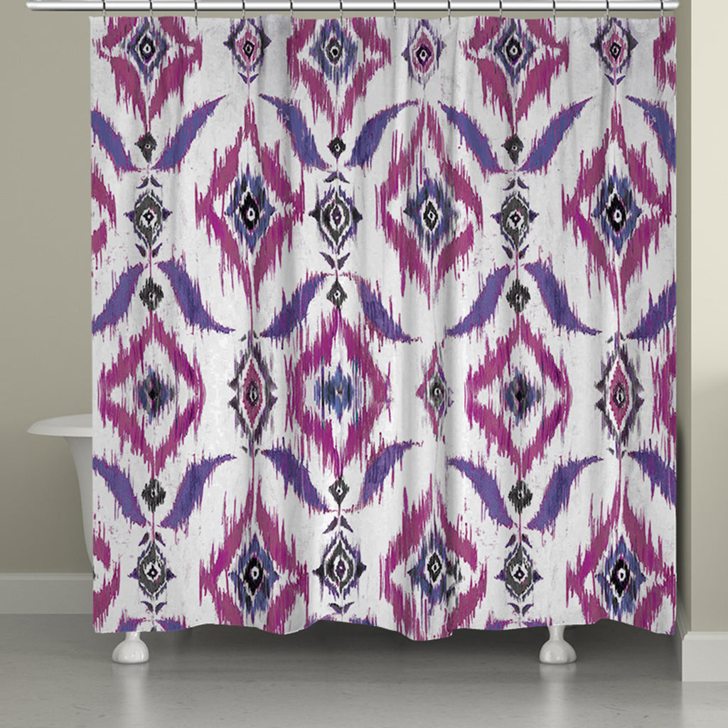 Purple Ikat Shower Curtain Laural Home