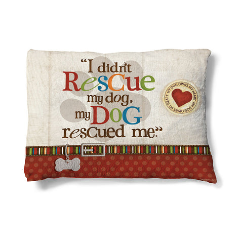"Rescue Dog 30"" x 40"" Fleece Dog Bed"