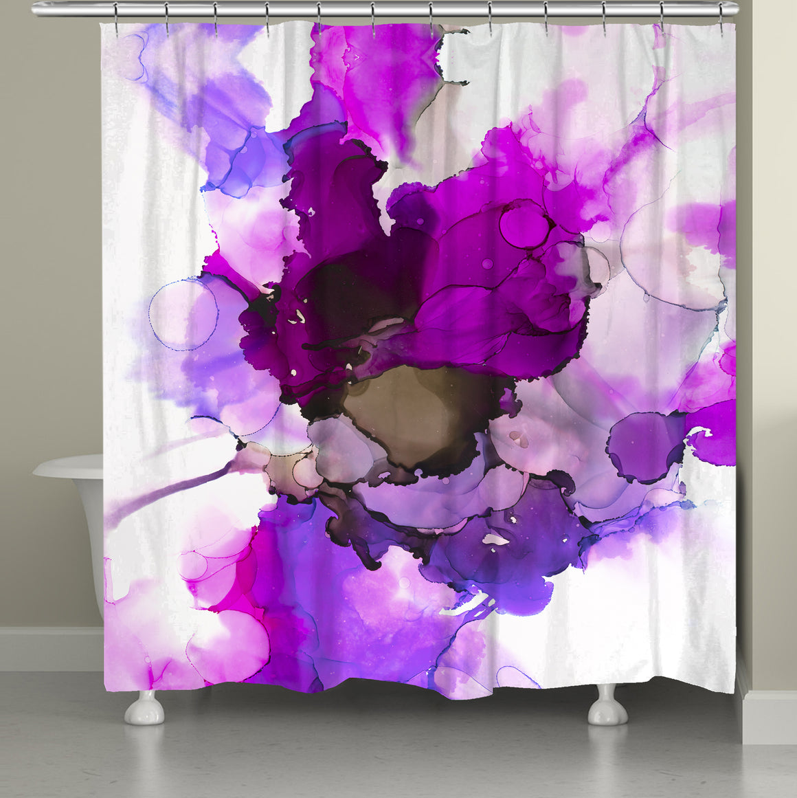 Radiant Jewel Tones Shower Curtain