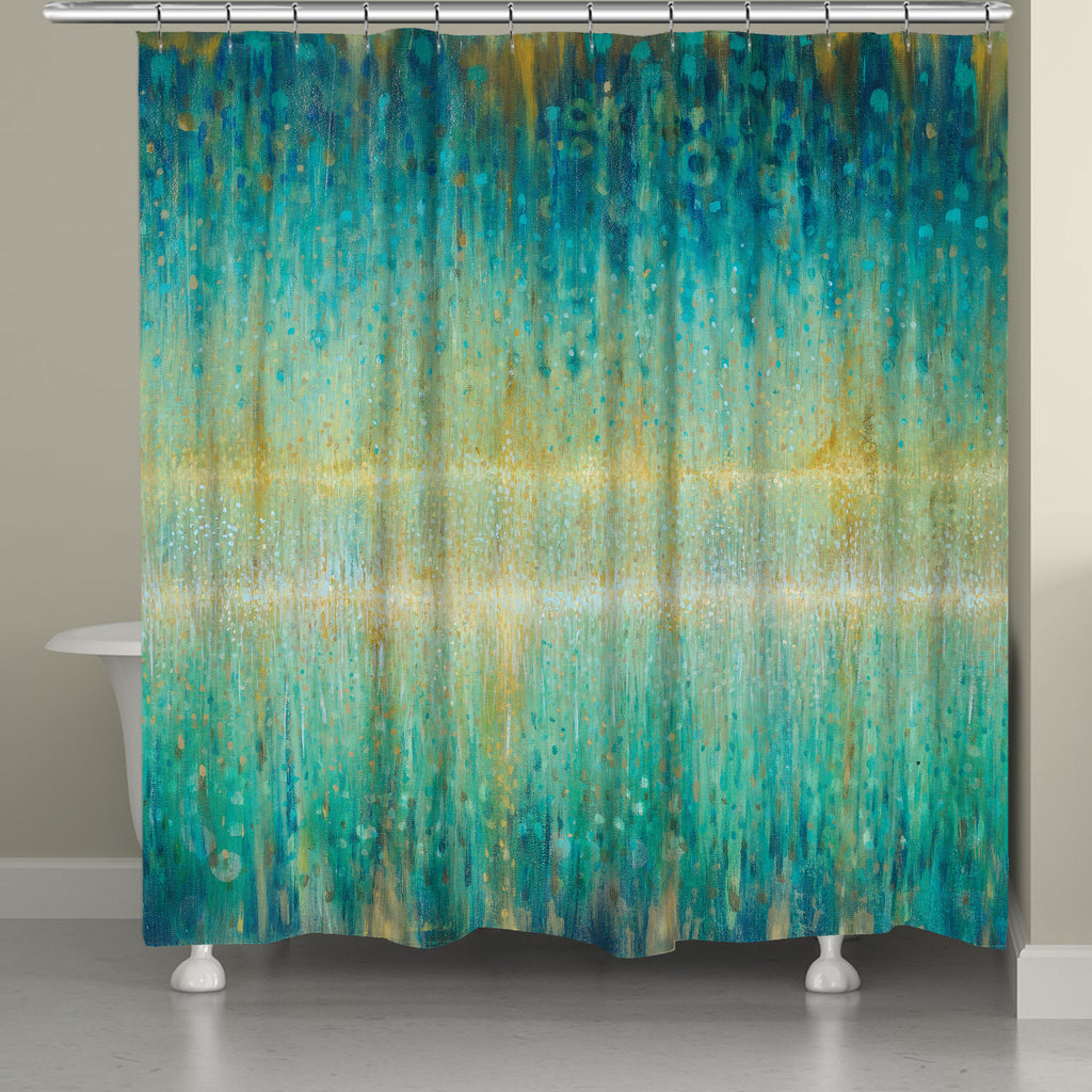 Rain Abstract Shower Curtain