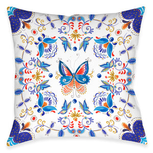 Rainbow Butterfly Indoor Decorative Pillow