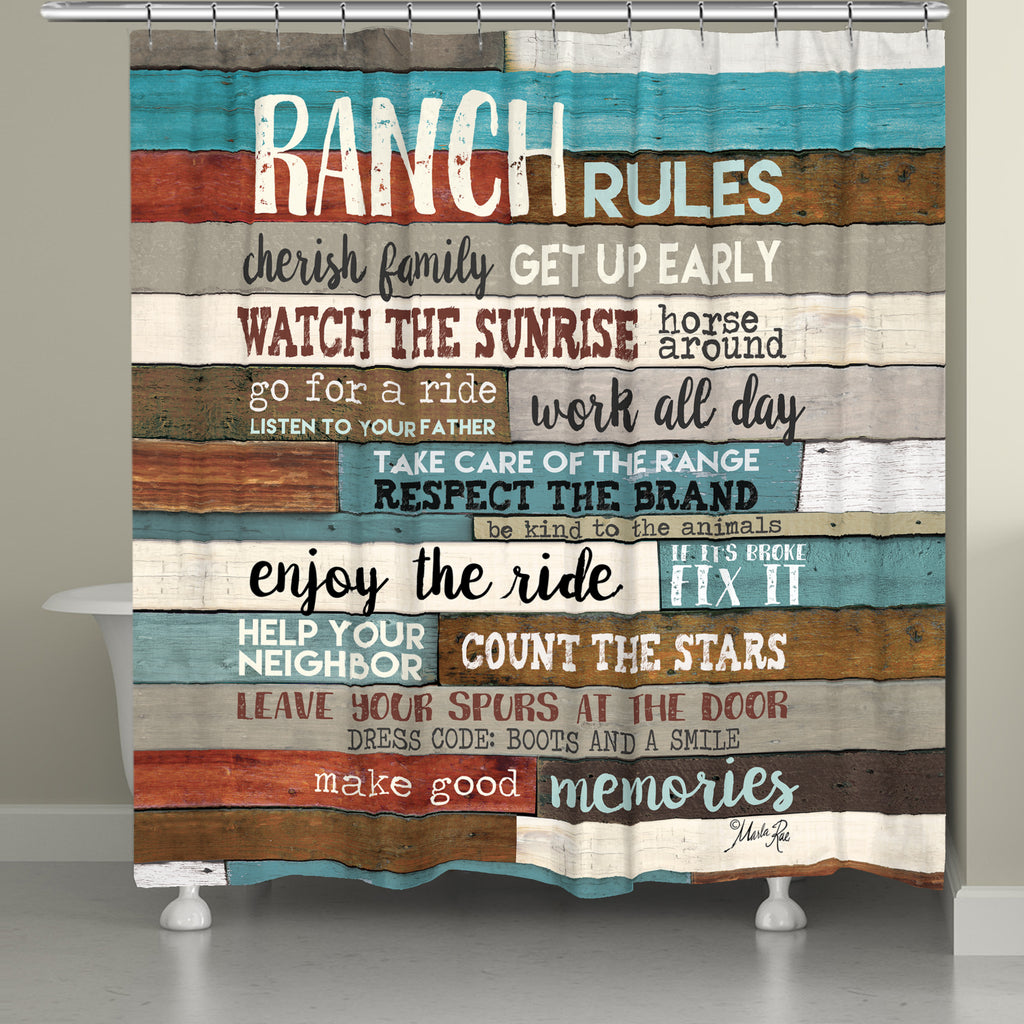 Southwest Ranch Rules Shower Curtain