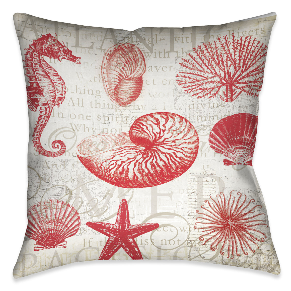 Red Shells Pillow II