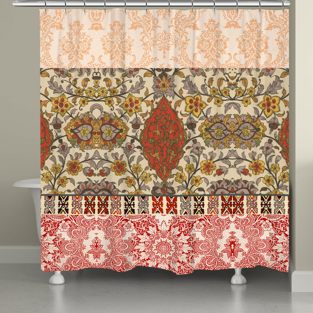 Red Spice Bohemian Tapestry Shower Curtain Laural Home