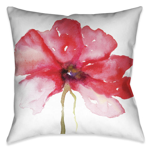 Floral in Red Indoor Decorative Pillow