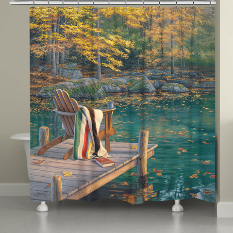 Reflecting on Golden Pond Shower Curtain
