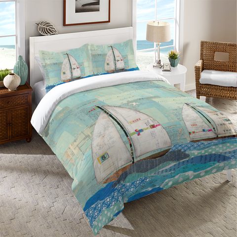 At the Regatta Duvet Cover