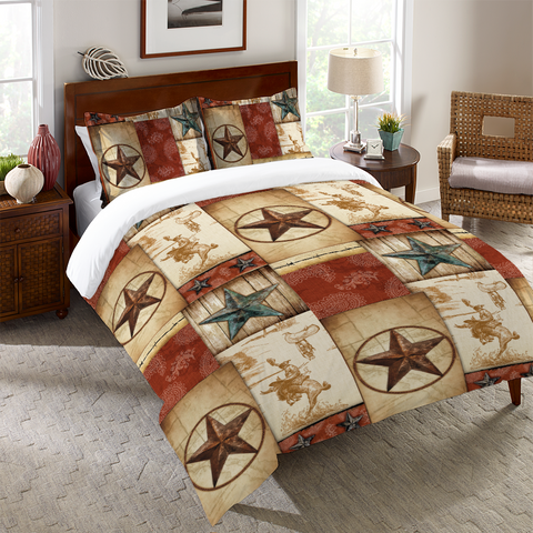 Rodeo Patch Duvet Cover