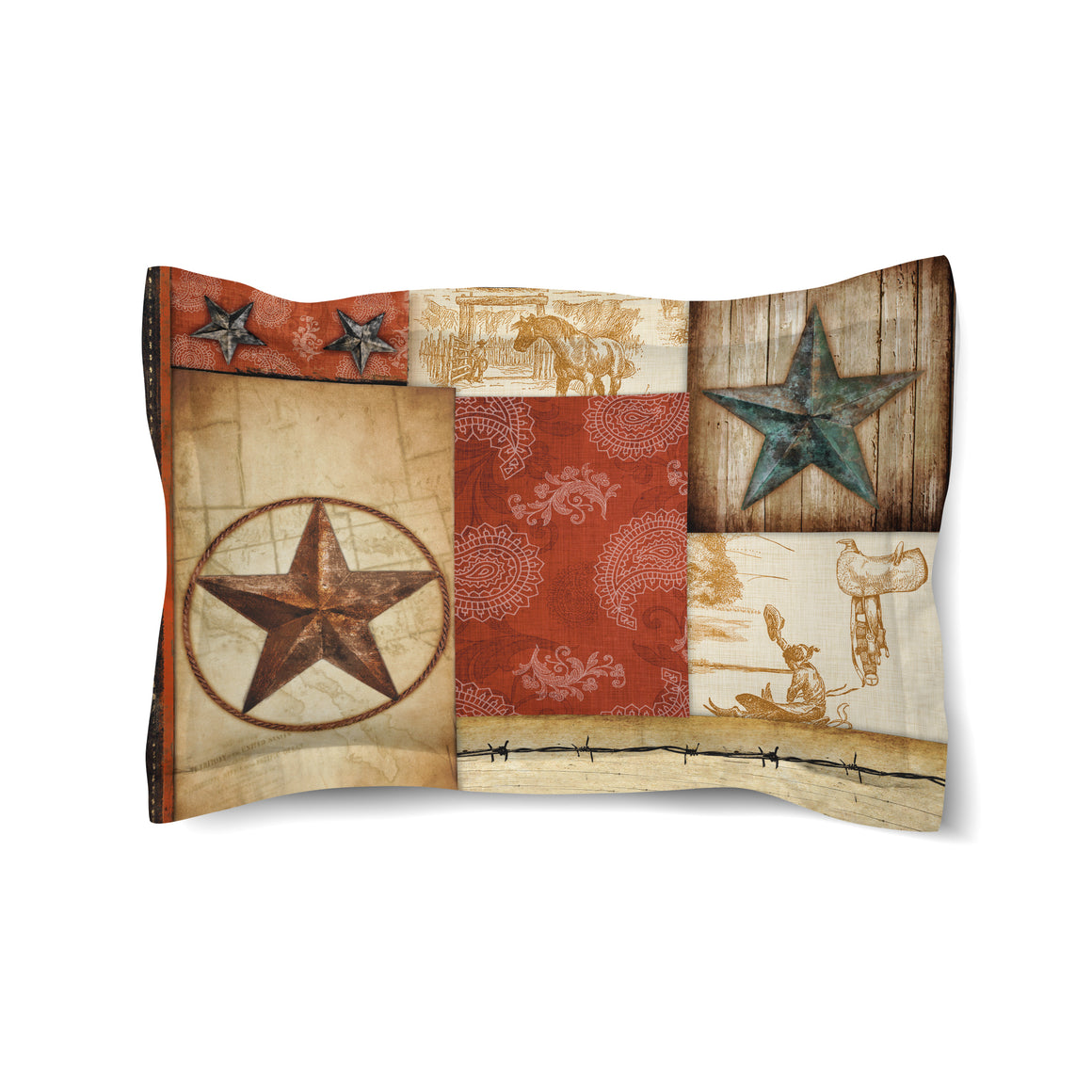 Rodeo Patch Duvet Sham