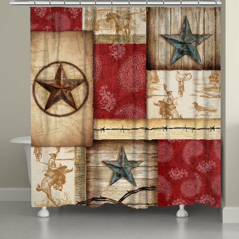 Rodeo Patch Shower Curtain