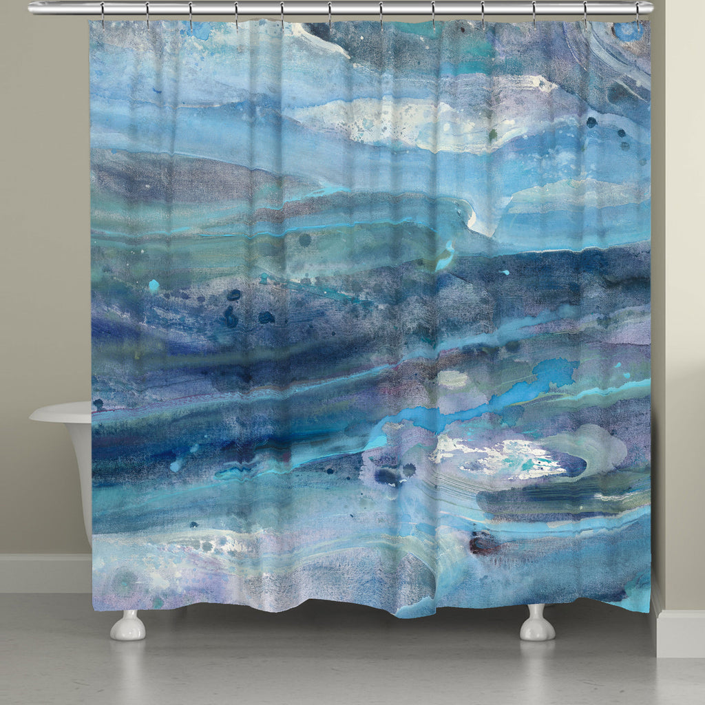 Rolling Waves Shower Curtain Laural Home
