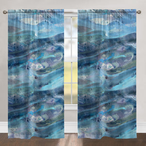 Rolling Waves Room Darkening Window Panel