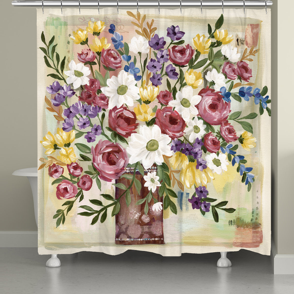 Romantic Florals Shower Curtain