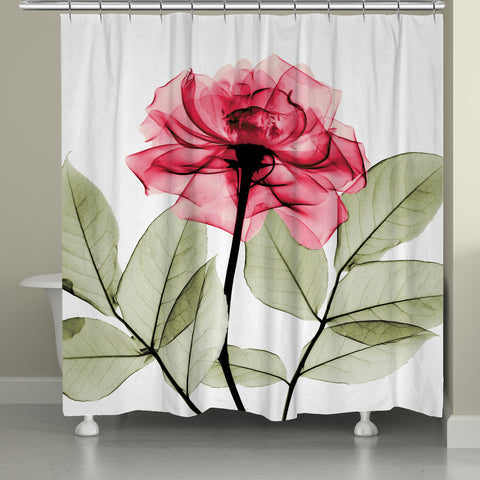 Rose X-Ray Shower Curtain