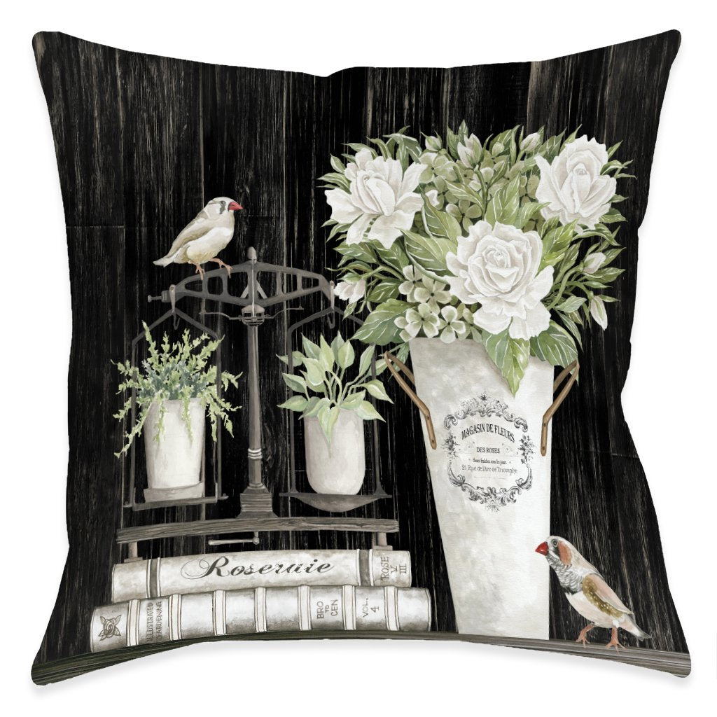 Roseraie Outdoor Decorative Pillow