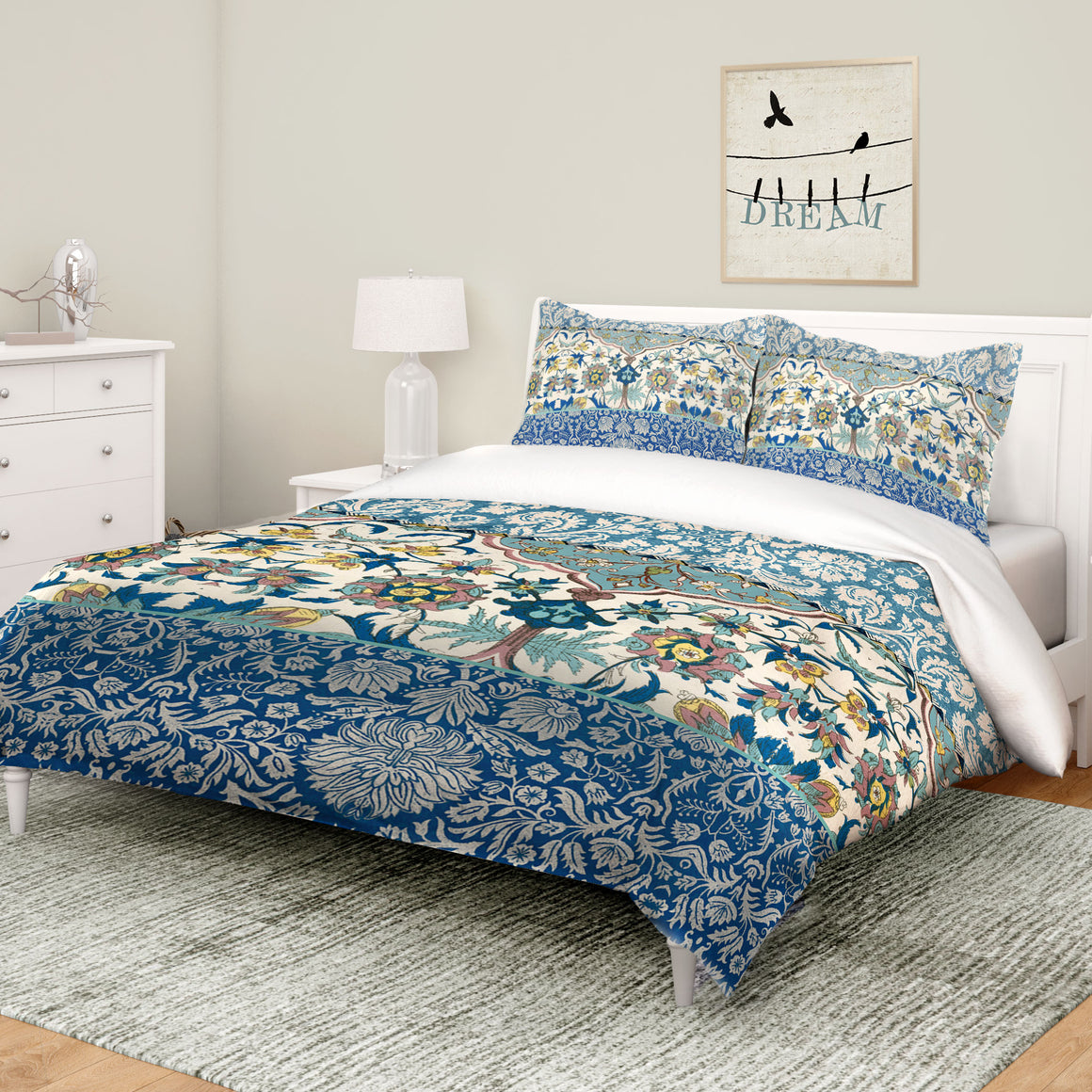 Royal Blue Bohemian Tapestry Comforter