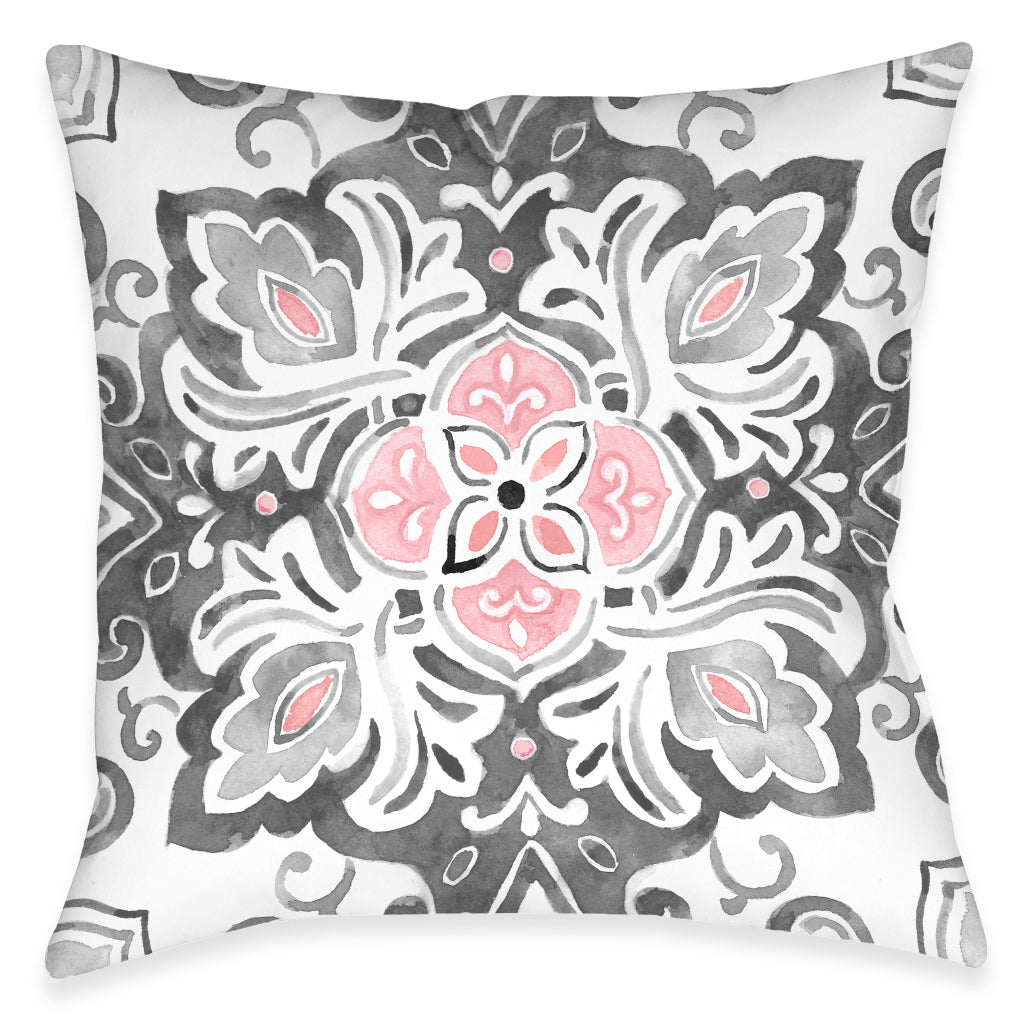 Royal Medallion Outdoor Decorative Pillow